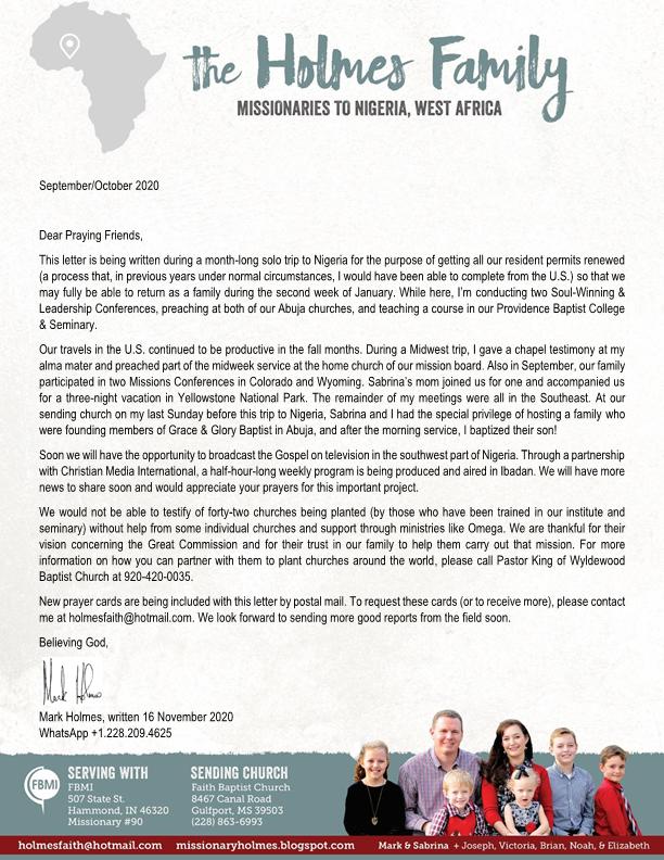 Mark-Holmes-Sep-Oct-2020-Prayer-Letter